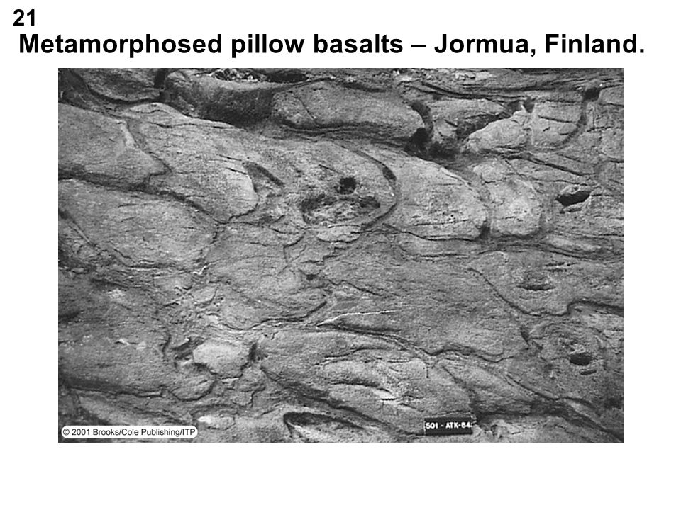 Metamorphosed pillow basalts – Jormua, Finland.