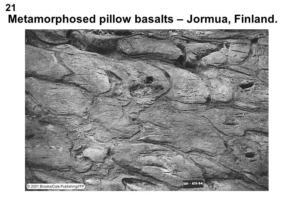 Metamorphosed pillow basalts – Jormua, Finland.