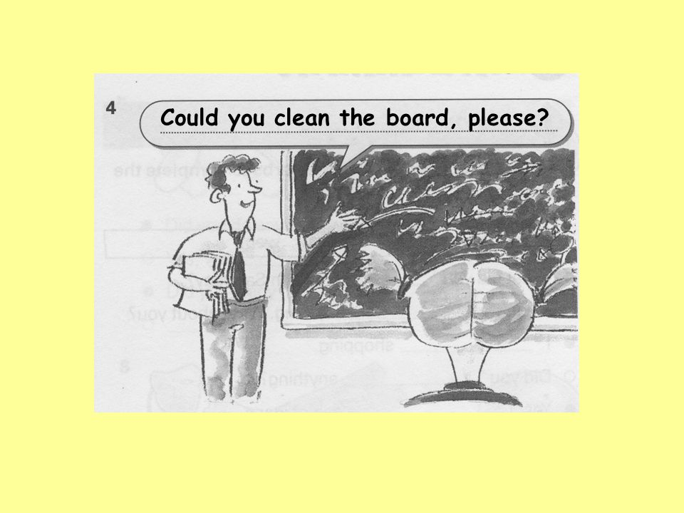 Could you clean the board, please