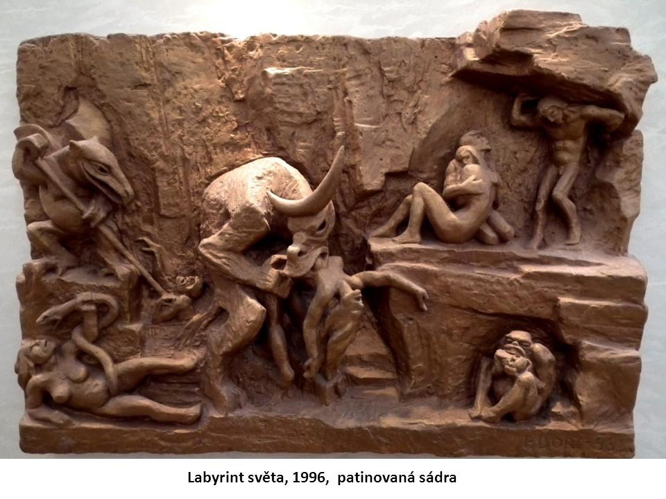Labyrint světa, 1996, patinovaná sádra