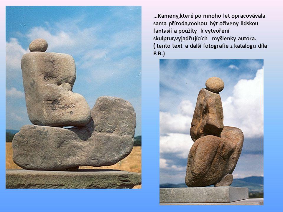 …Kameny,které po mnoho let opracovávala sama příroda,mohou být oživeny lidskou fantasií a použity k vytvoření skulptur,vyjadřujících myšlenky autora.