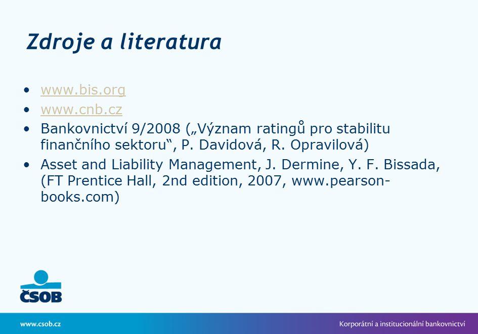 Zdroje a literatura www.bis.org www.cnb.cz