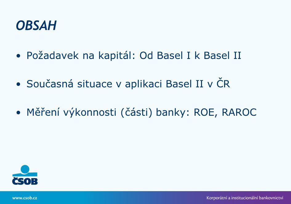 OBSAH Požadavek na kapitál: Od Basel I k Basel II