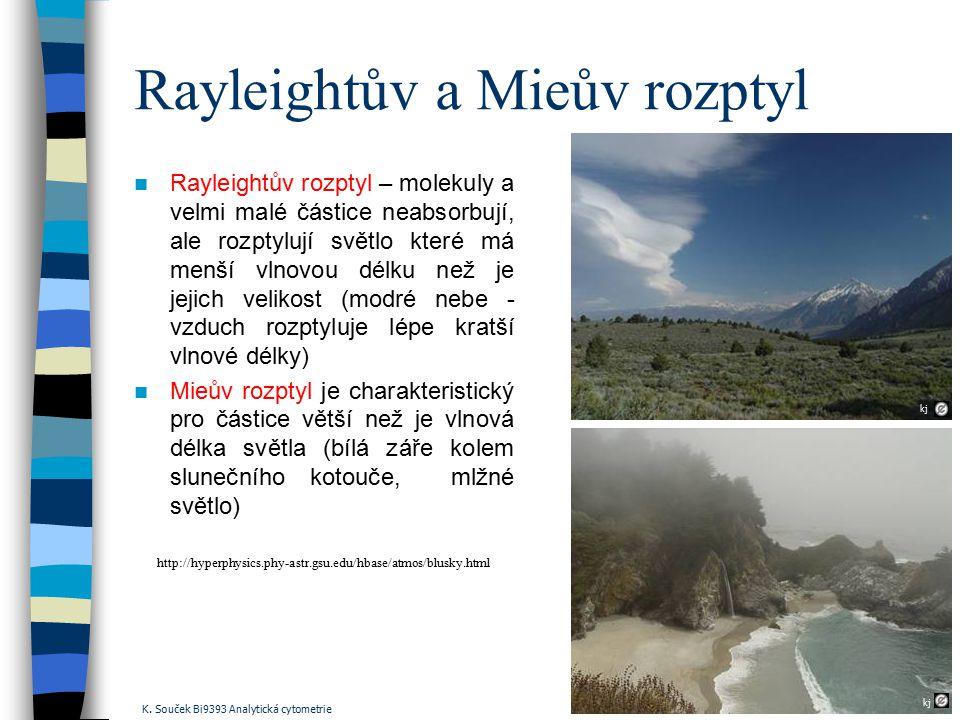 Rayleightův a Mieův rozptyl