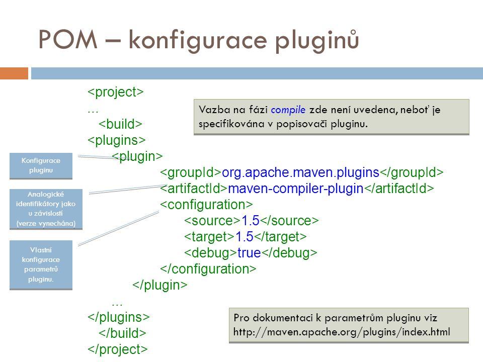 POM – konfigurace pluginů