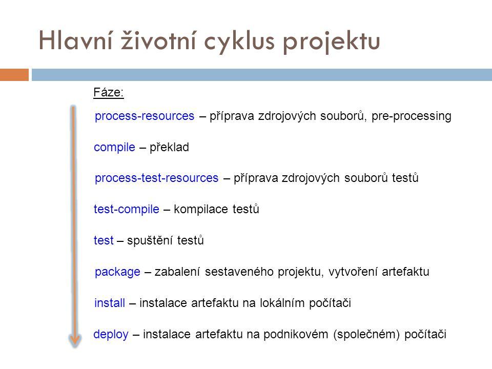 Hlavní životní cyklus projektu