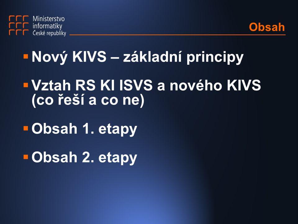 Nový KIVS – základní principy