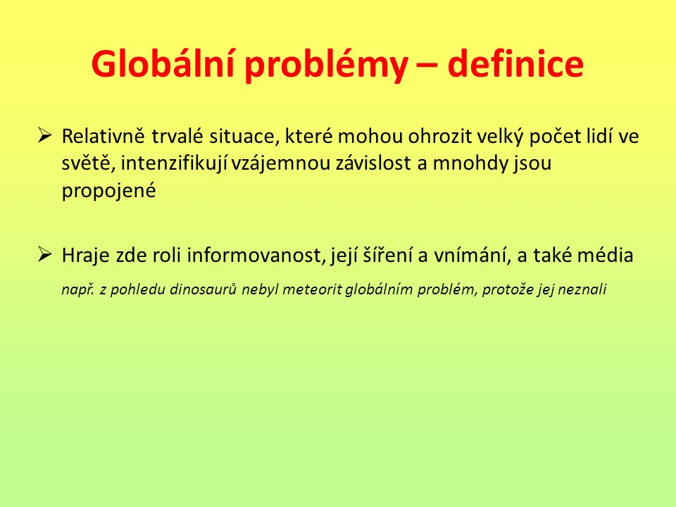 Globální problémy – definice