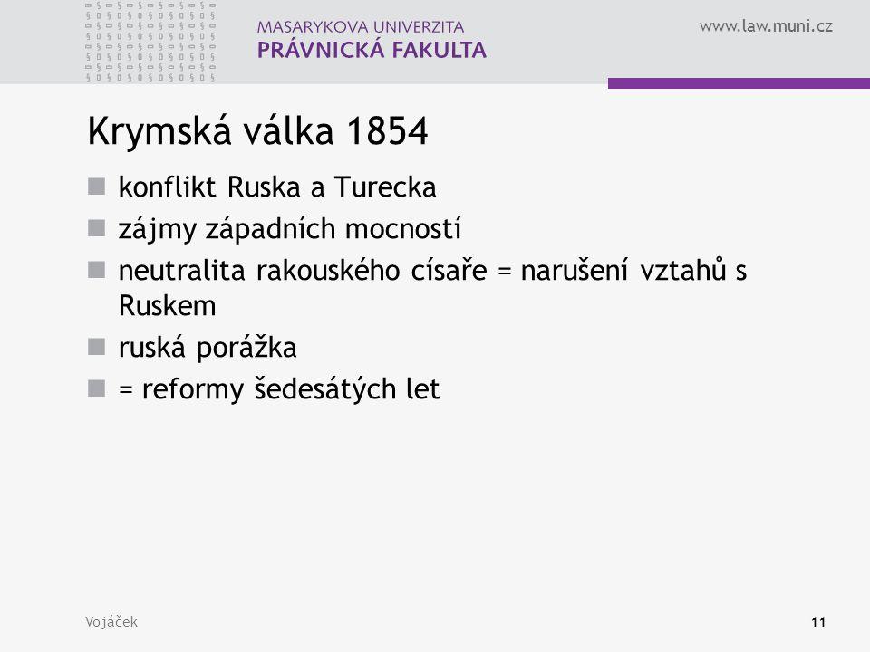 Krymská válka 1854 konflikt Ruska a Turecka zájmy západních mocností