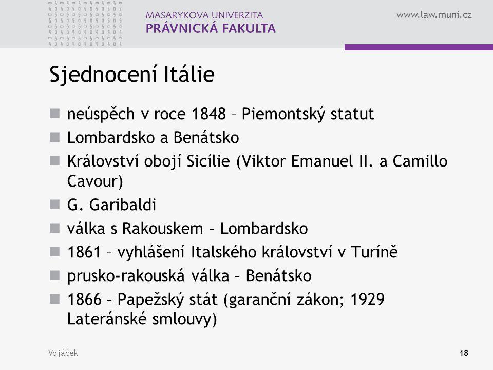 Sjednocení Itálie neúspěch v roce 1848 – Piemontský statut