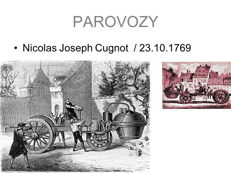 PAROVOZY Nicolas Joseph Cugnot / 23.10.1769