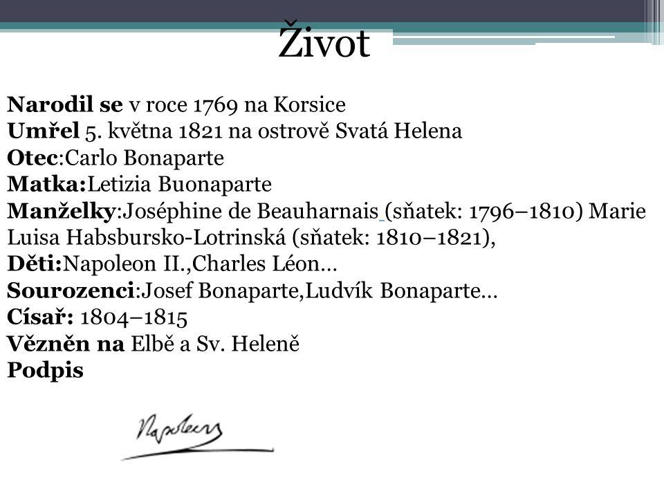 Život Narodil se v roce 1769 na Korsice