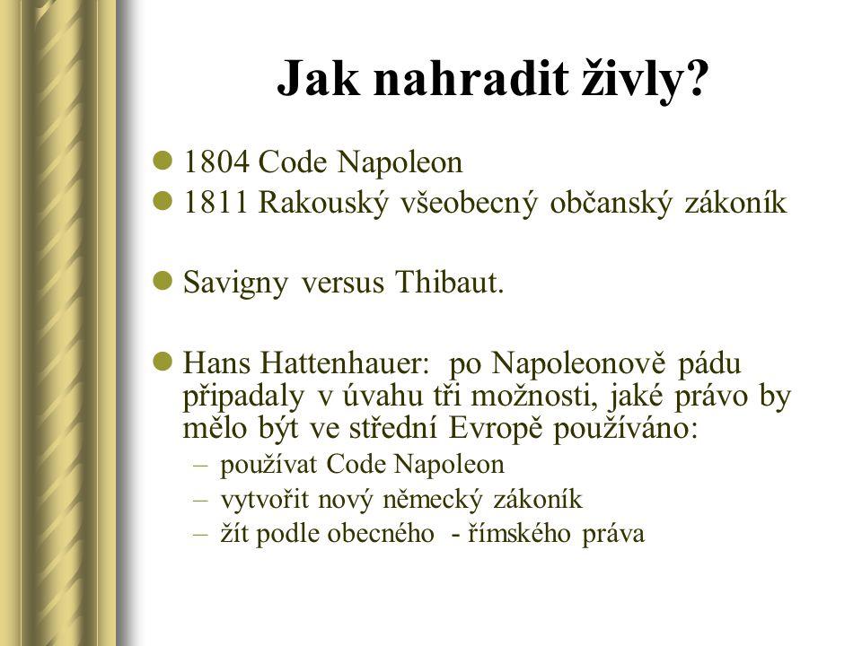 Jak nahradit živly 1804 Code Napoleon