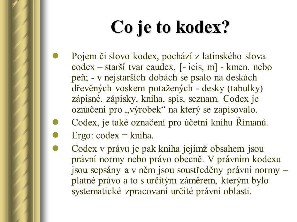 Co je to kodex