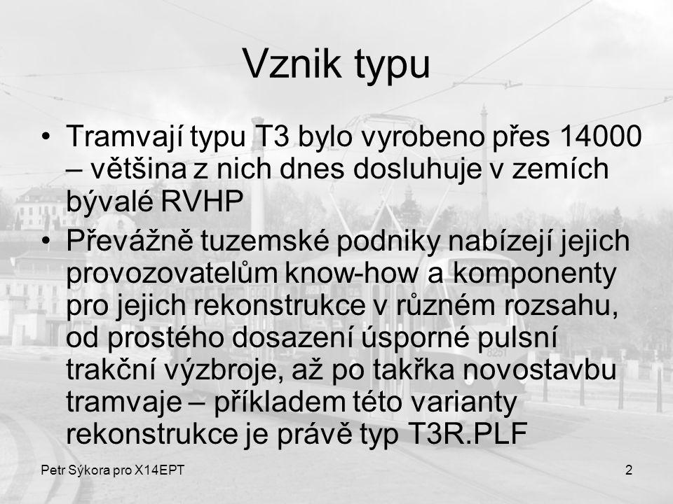 Vznik typu Tramvají typu T3 bylo vyrobeno přes 14000 – většina z nich dnes dosluhuje v zemích bývalé RVHP.