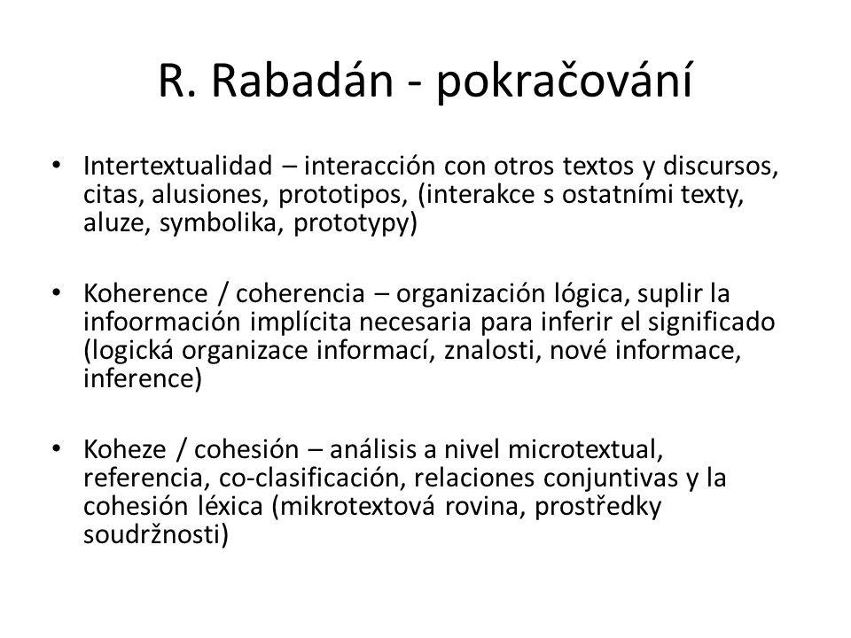 R. Rabadán - pokračování