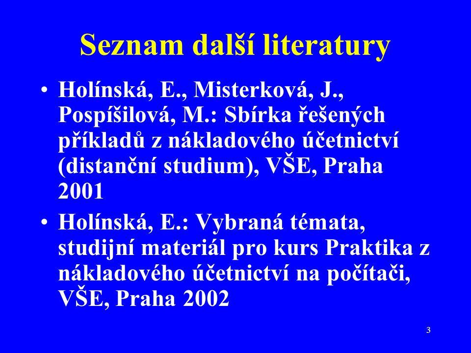 Seznam další literatury