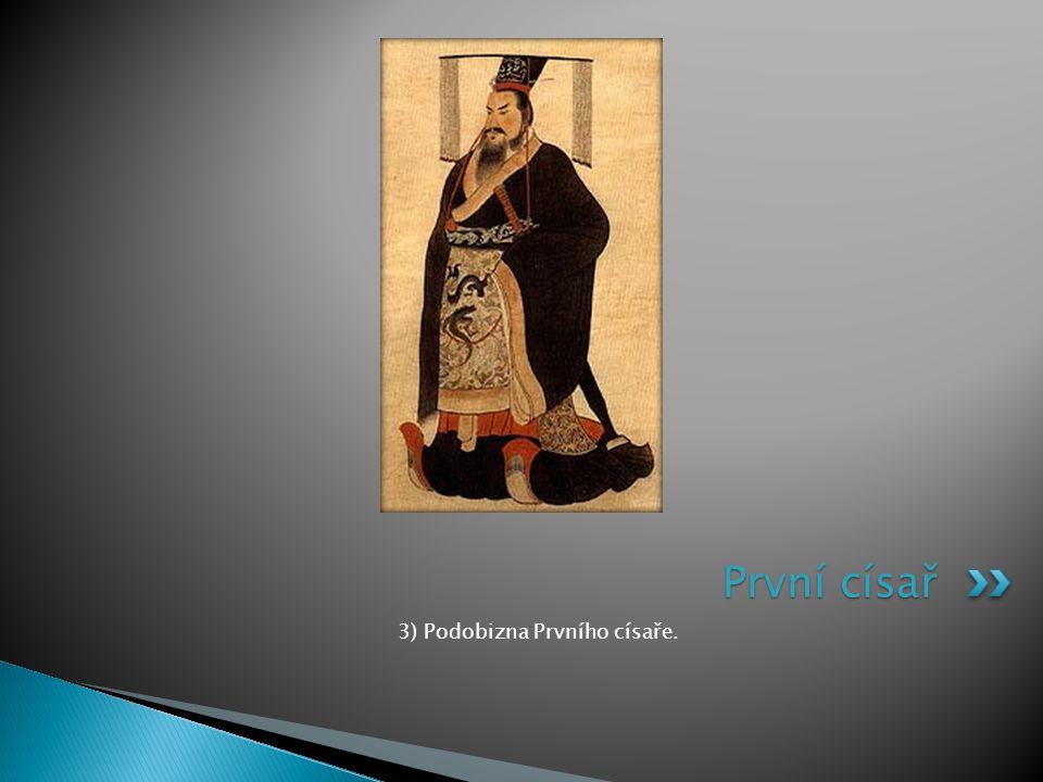 3) Podobizna Prvního císaře.