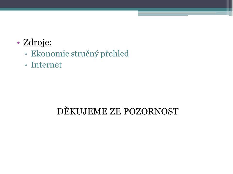 Zdroje: Ekonomie stručný přehled Internet DĚKUJEME ZE POZORNOST
