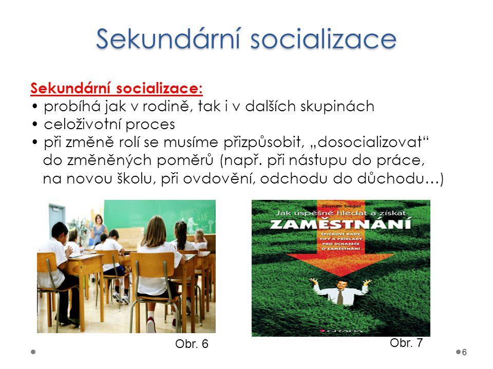 Sekundární socializace
