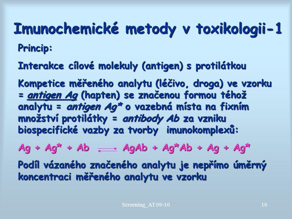Imunochemické metody v toxikologii-1