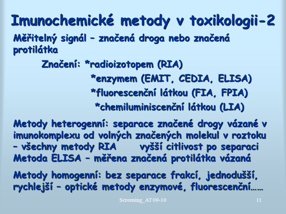 Imunochemické metody v toxikologii-2