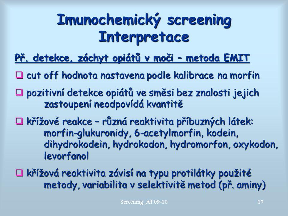 Imunochemický screening Interpretace