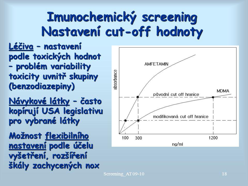 Imunochemický screening Nastavení cut-off hodnoty