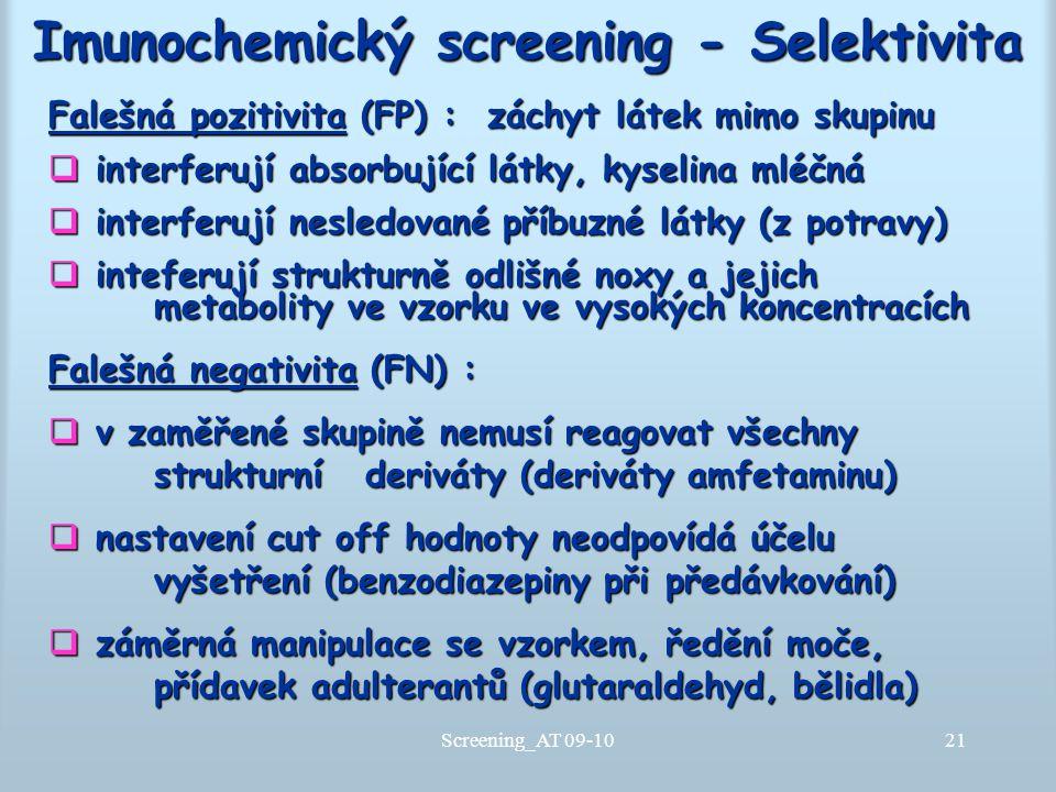 Imunochemický screening - Selektivita