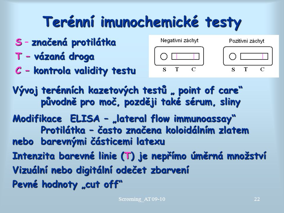 Terénní imunochemické testy