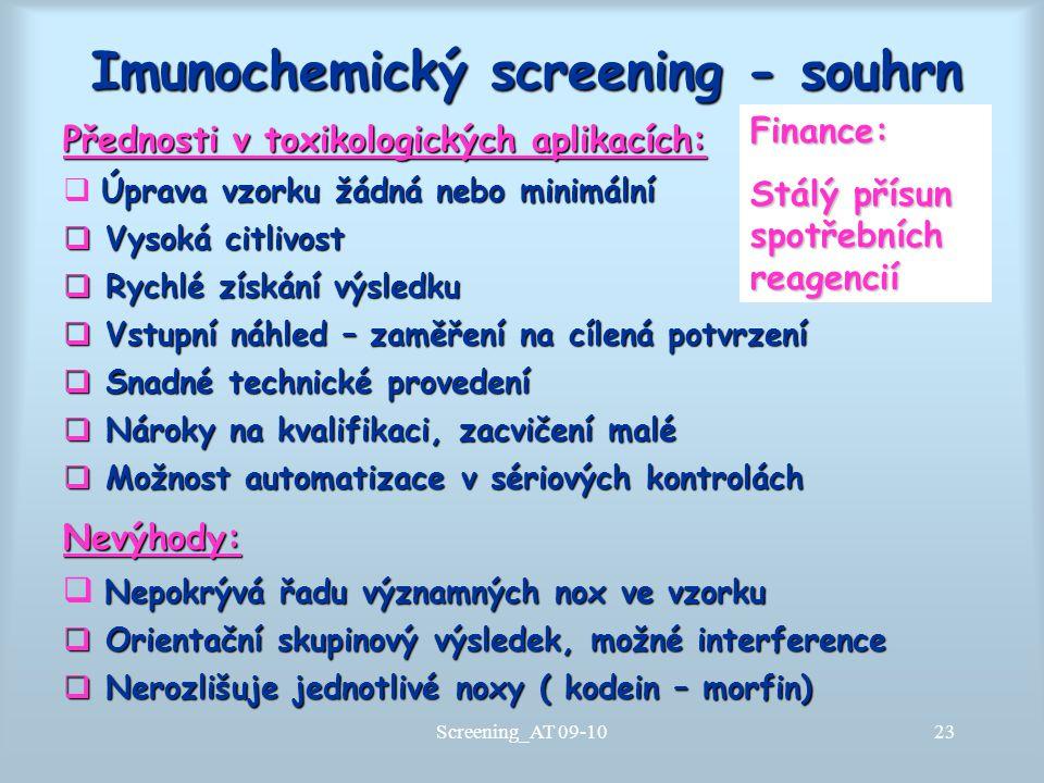 Imunochemický screening - souhrn