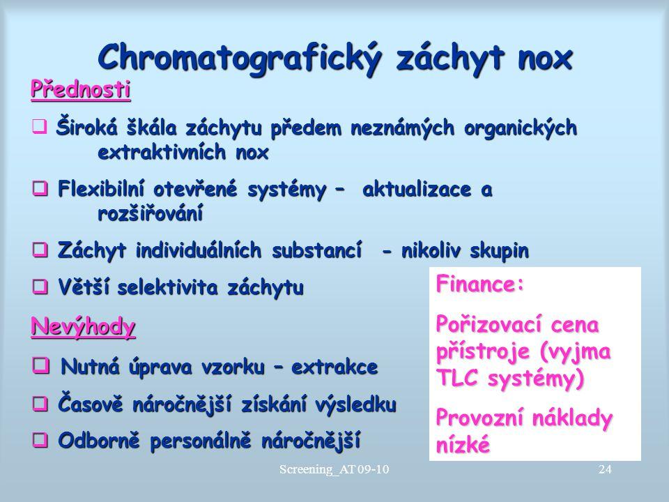 Chromatografický záchyt nox