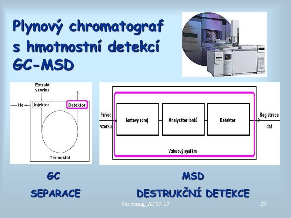 Plynový chromatograf s hmotnostní detekcí GC-MSD