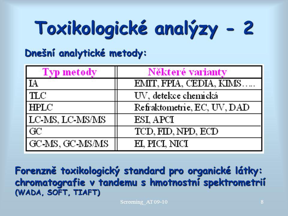 Toxikologické analýzy - 2