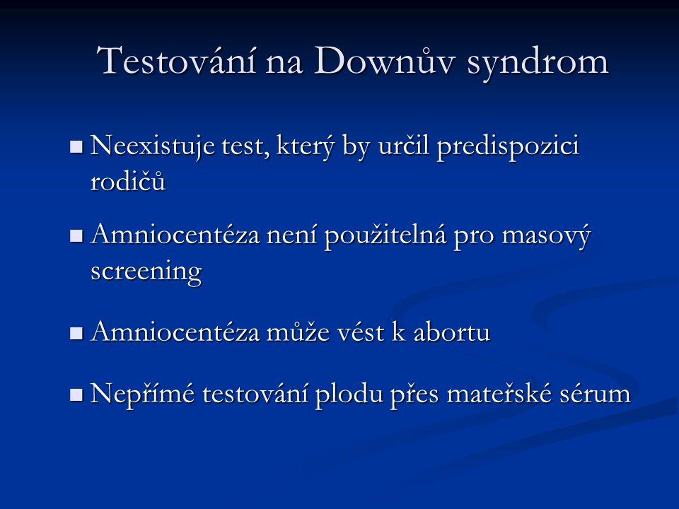 Testování na Downův syndrom