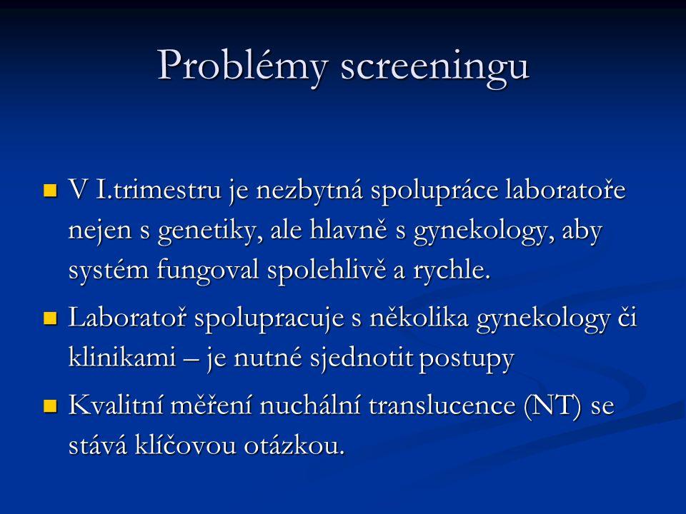 Problémy screeningu