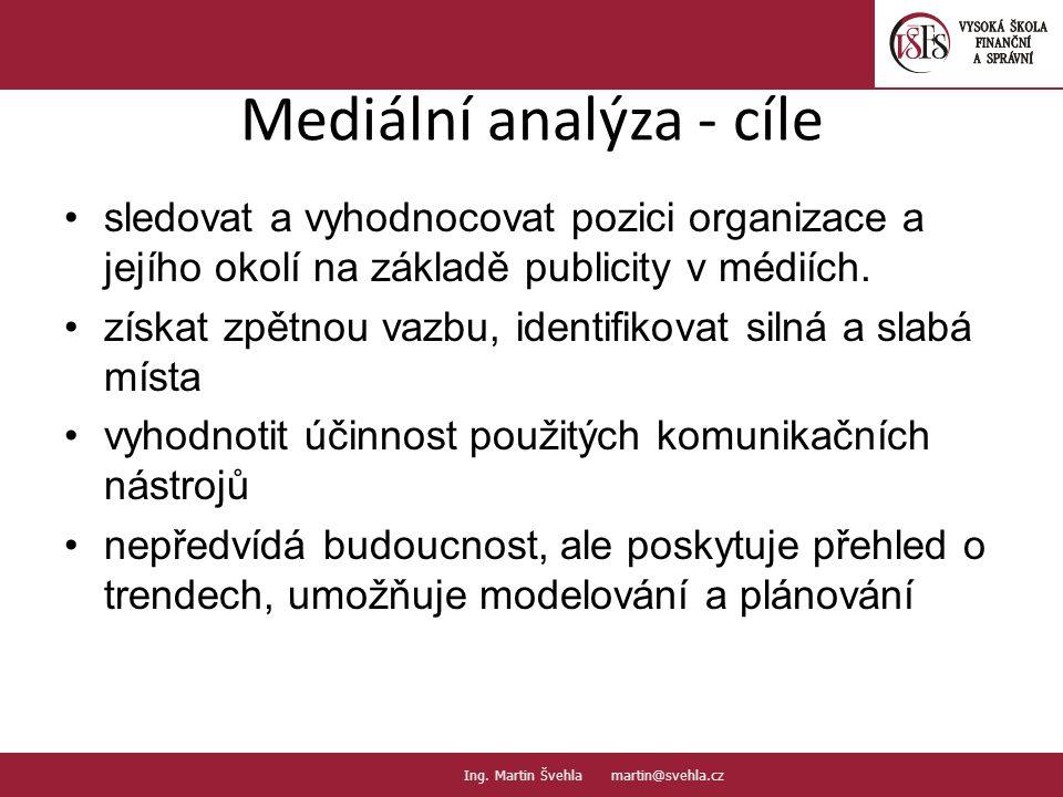 Mediální analýza - cíle