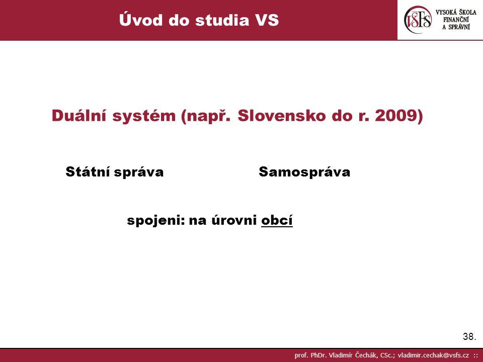 Duální systém (např. Slovensko do r. 2009)