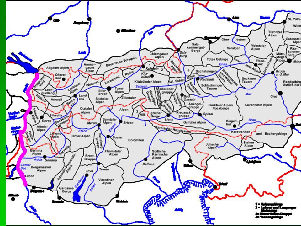 Geomorfologické členění Alp