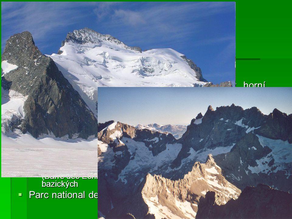 Massif des Écrins nejvyšší a největší pohoří Alpes du Dauphiné