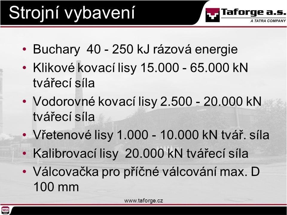 Strojní vybavení Buchary 40 - 250 kJ rázová energie