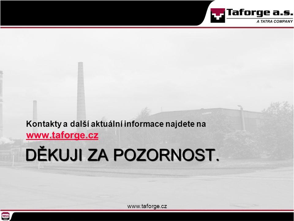 Kontakty a další aktuální informace najdete na www.taforge.cz