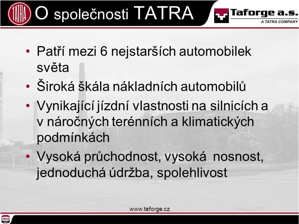 O společnosti TATRA Patří mezi 6 nejstarších automobilek světa