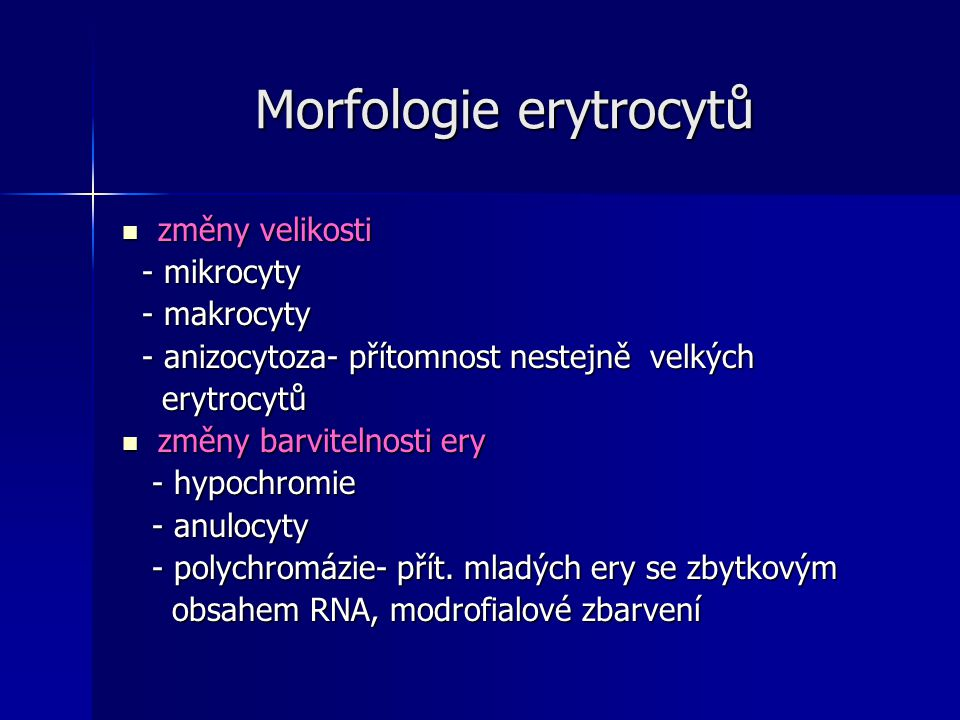 Morfologie erytrocytů