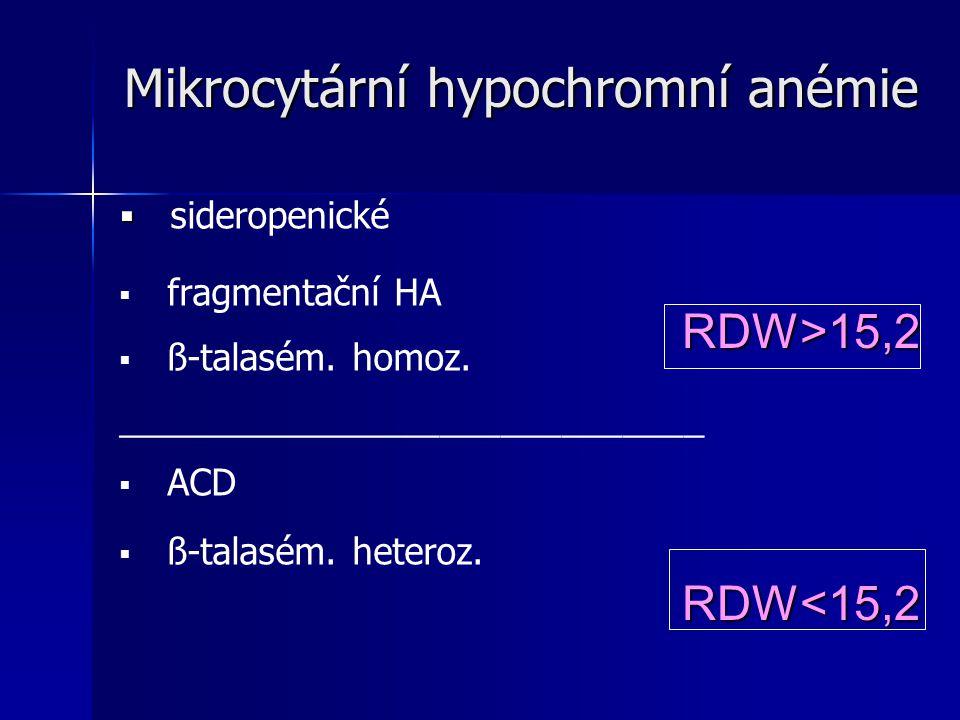 Mikrocytární hypochromní anémie