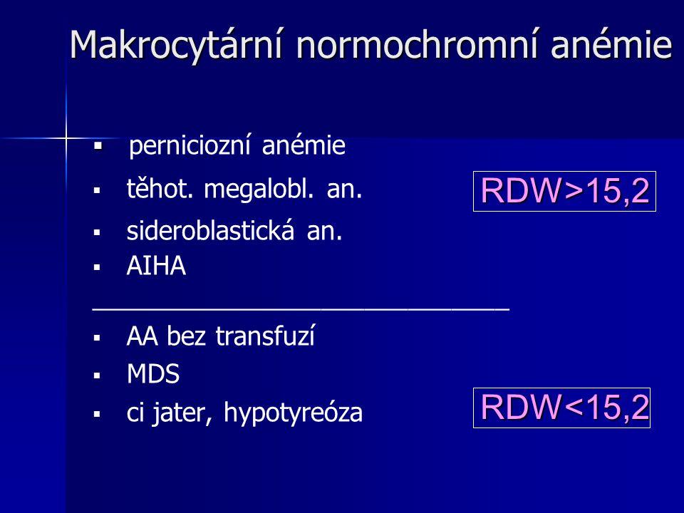 Makrocytární normochromní anémie
