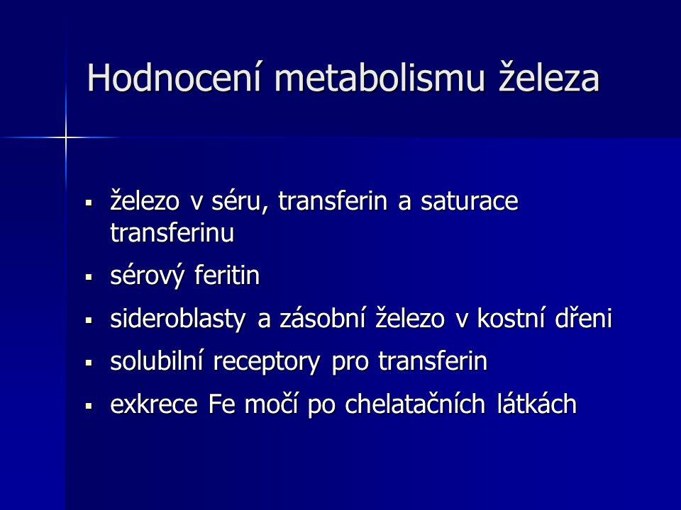 Hodnocení metabolismu železa