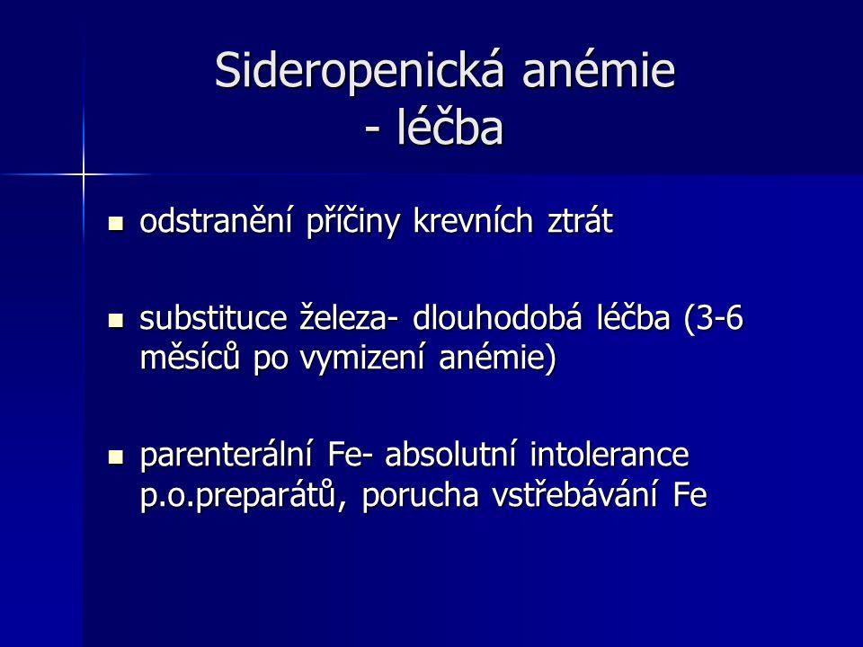 Sideropenická anémie - léčba