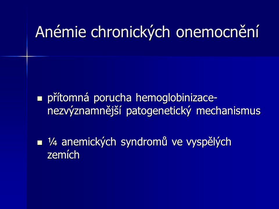 Anémie chronických onemocnění
