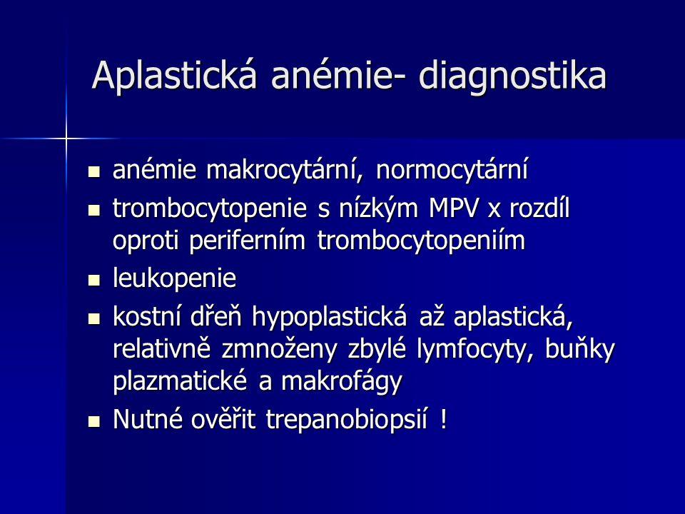 Aplastická anémie- diagnostika